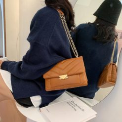 Luxury Simple Small PU Leather Underarm Bags for Women 2021 Winter Luxury Trend Shoulder Handbags Branded Trending Hand Bag