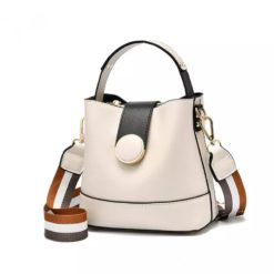 New Women Bag with Colorful Strap Bucket Bag Women PU Leather Shoulder Bags Brand Designer Ladies Crossbody Messenger Bags