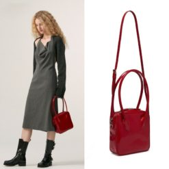 Top-handle Bags Patent Leather Bags for Women Fashion Branded Crossbody Shoulder Bag Elegant Lady Trend Handbags and Purses Sac